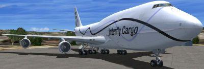 Interfly Boeing 747-300F on tarmac.
