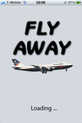 Loading screen on the Fly Away Simulation app