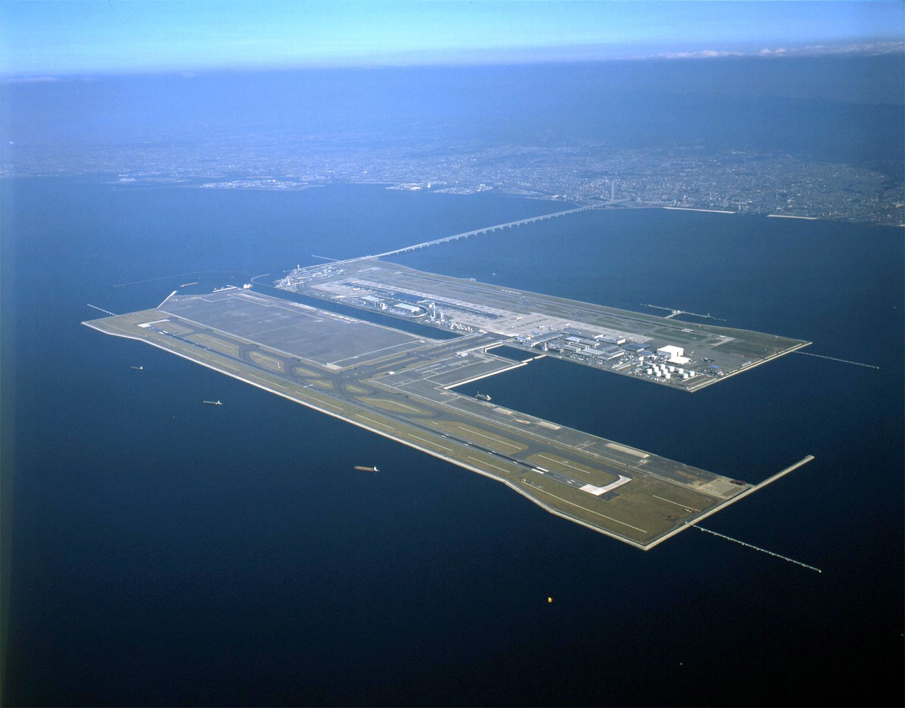 engineering feat, built on a manmade island off the coast of Japan