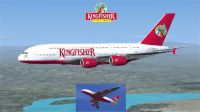 Kingfisher Airlines Airbus A380-800 in flight.