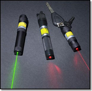 Green and red laser pens