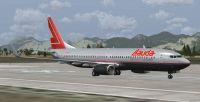 Lauda Boeing 737-800 on runway.