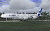 Lufthansa Airbus A330 on runway.