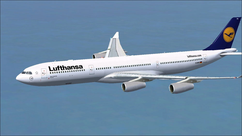 lufthansa airbus a340 313 for fsx. Black Bedroom Furniture Sets. Home Design Ideas