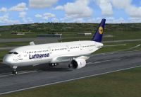 Lufthansa Airbus A350 on runway.