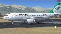 Mahan Air Airbus A310-304 on runway.