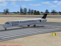 McDonnell Douglas MD-83 on runway.