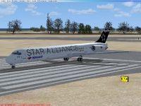 McDonnell Douglas MD-83 on runway.