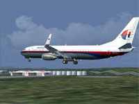 Malaysian 737 landing in FS2004