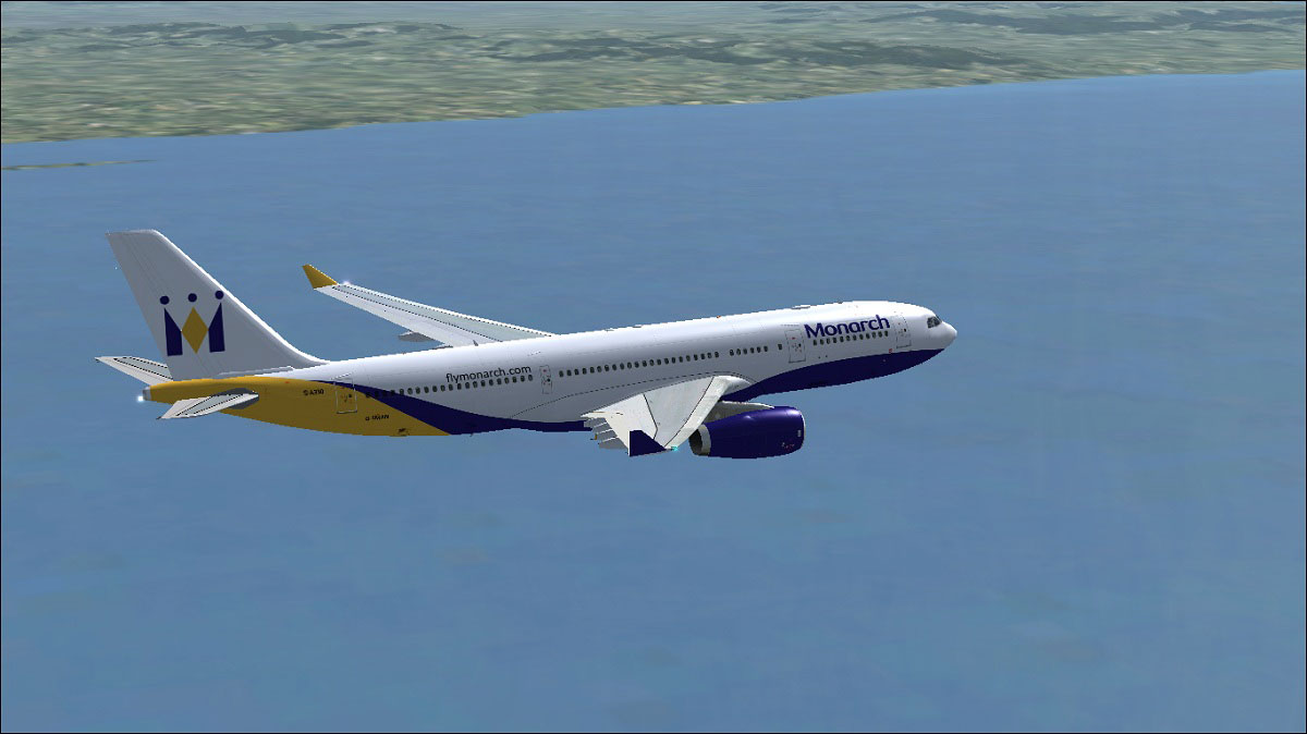 Monarch Airbus A330-243 in flight.: https://flyawaysimulation.com/downloads/files/4313/fsx-monarch...