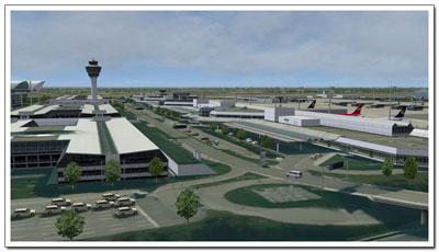 Screenshot from Aerosoft's Mega Airport Munich scenery package