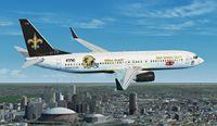 New Orleans Saints Boeing 737-800.