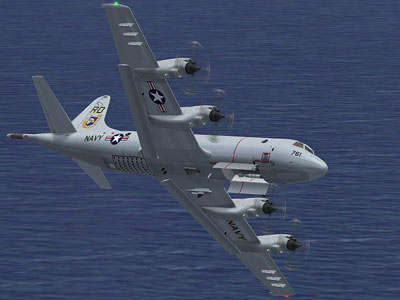 P-3C Orion over ocean