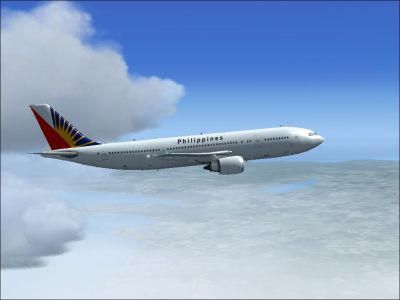 Philippine Airlines Airbus A300-600R in flight.