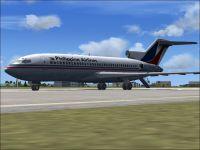 Philippine Airlines Boeing 727-100 on runway.