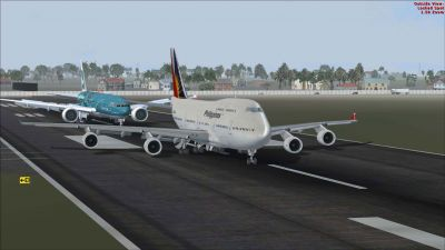 Philippine Airlines Boeing 747-400 on runway.
