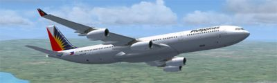 Philippines Airbus A333/A343 in flight.
