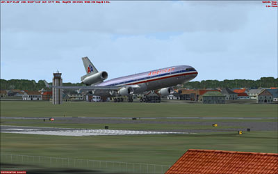 American MD-11 on take-off