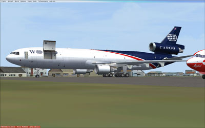 World Cargo MD-11 with cargo doors open
