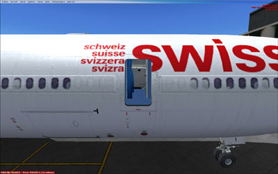 Swiss MD-11 with passenger door open
