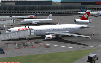 Swiss MD-11 at gate