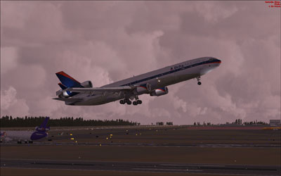 Delta MD-11 take-off