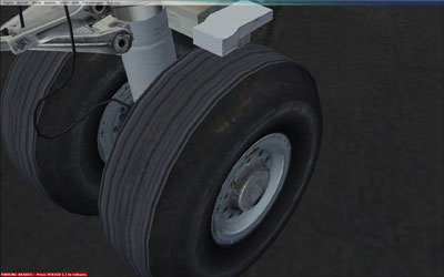 Wheels with tyre tread showing