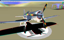 Screenshot of PRE-Flight's 3D features