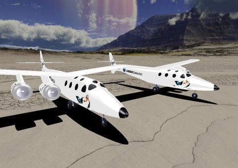 Virgin SpaceShipOne in PRE Flight RC Simulator
