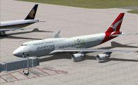 Qantas Boeing 747-400.
