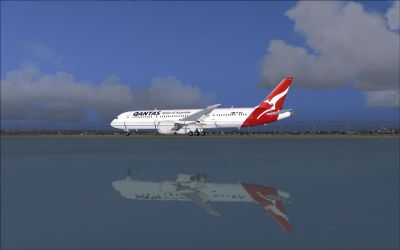 Qantas Boeing 787-8.