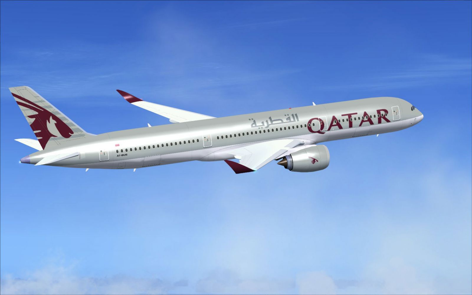 Qatar Airbus A350 900 Xwb V2 For Fsx