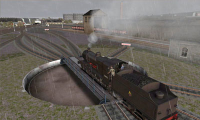 Steam train turning
