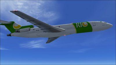 Rio Linhas Aereas Boeing 727-200ADV (F) in flight.