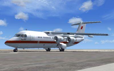 Royal Bahraini Air Force VIP BAe Avro RJ100 on runway.