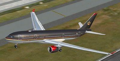 Royal Jordanian Airbus A330-200 taking off.