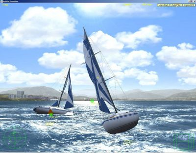 Sailboat in Vehicle Simulator