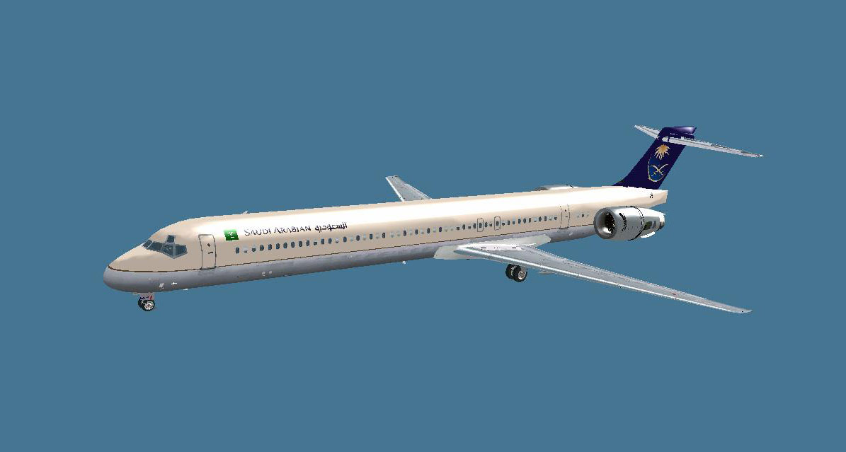 Saudi Airlines McDonnell Douglas MD-90 for FSX