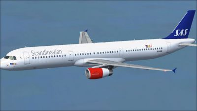 Scandinavian Airlines SAS Airbus A321-231 in flight.