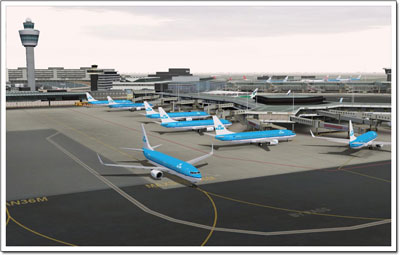 Aerosoft's Amsterdam Schiphol scenery for both FSX and FS2004