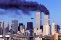 Second aircraft crashing into the World Trade Center