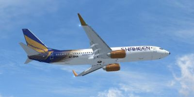 Shaheen Air Boeing 737-800 in flight.