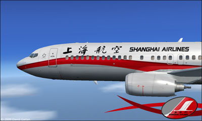 Boeing 737-800 Shanghai Airlines nose