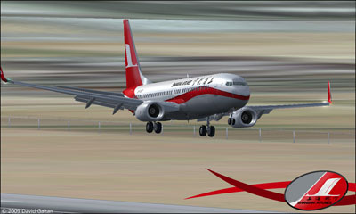 Boeing 737-800 Shanghai Airlines on runway