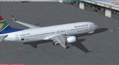 South African Airways Boeing 737-800.