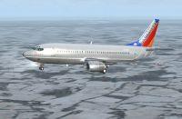 Southwest Airlines Boeing 737-300 in flight.