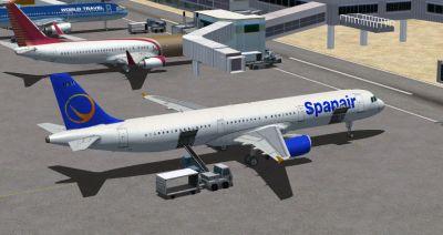 Spanair Airbus A321.