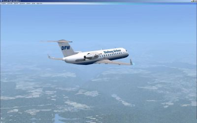 Stellweg Airlines Canadair CRJ-200 in flight.