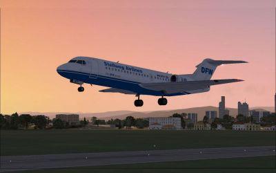 Stellweg Airlines Fokker 70 taking off.
