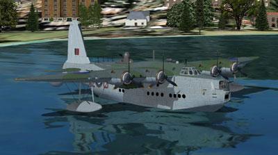 Sunderland Short flying boat in Microsoft Flight Simulator X